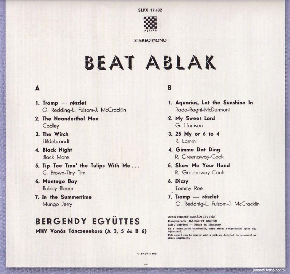 Bergendy - Beat ablak - világslágerek (CD)